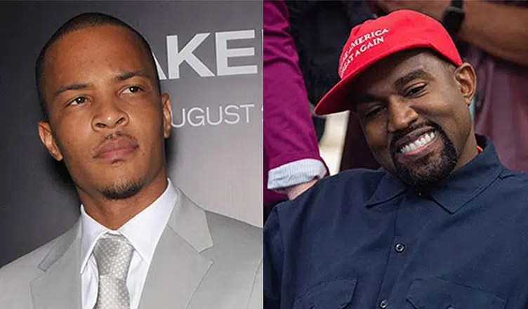 T.I. and Kanye West (Credit Shutterstock and YouTube)