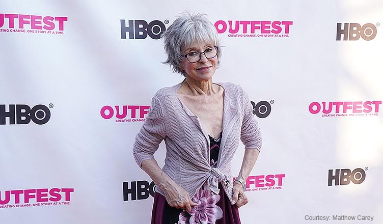 Rita Moreno Attends Outfest (Credit: Matthew Carey)