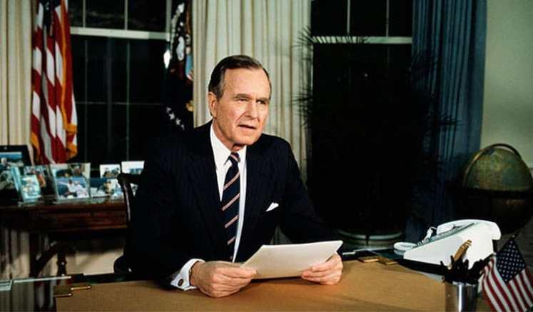President George H.W. Bush (Credit: Youtube)
