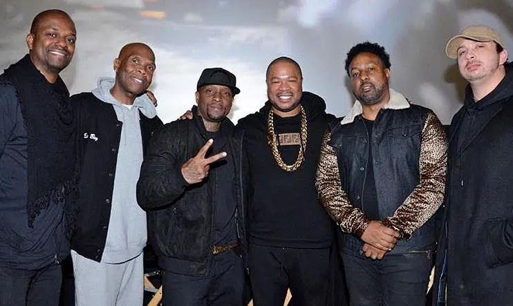"L-R: Life Garland (Film Editor,) Big Boy (Host/Moderator,) James ""Jayo Felony"" Savage (Lead Actor/Rapper,) Alvin 'Xzibit' Joiner (Co-Director, Co-Producer,) Rashidi Harper (Director, Co-Producer,) and Jesse Ray Diamond (Co-Producer, Co-Director); (Credit Koi Sojer/SnapNU Photos)"
