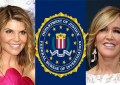 Lori Loughlin and Felicity Huffman are shown with the FBI logo (Credit: Deposit Photos and FBI)