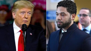 Donald Trump and Jussie Smollett (Credit: Shutterstock)