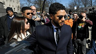 Jussie Smollett Leave Chicago Courthouse (Credit: Shutterstock)