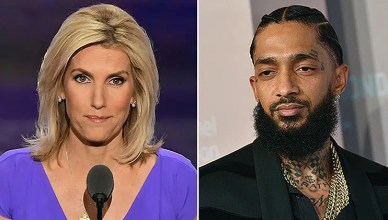 Laura Ingraham and Nipsey Hussle (Credit: Shutterstock)