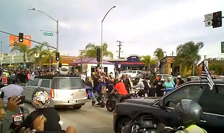 Nipsey Hussle Funeral Procession (Credit: YouTube)