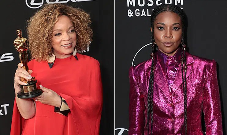 Ruth E. Carter and Gabrielle Union attend the Black Design Collective's 1st Annual Scholarship Tribute on Saturday, April 13, 2019. (Credit: Alex J. Berliner/ABImages)