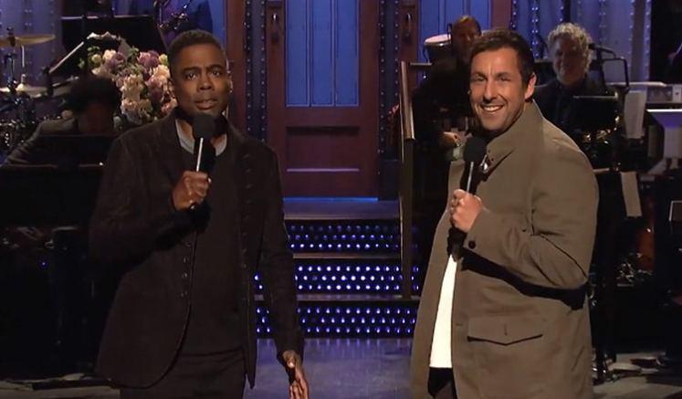 Chris Rock and Adam Sandler (Credit: NBC)