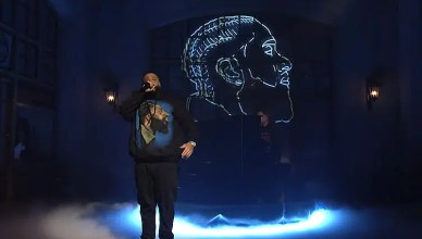 DJ Khaled Performs on SNL. (Credit: NBC)