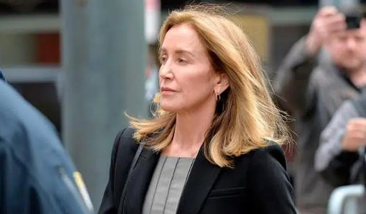 Felicity Huffman Attends Court on May 13, 2019. (Credit: YouTube/CBS LA)