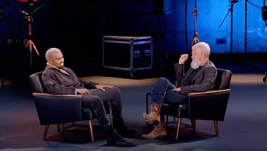 "Kanye West and David Letterman appear on ""My Next Guest Needs No Introduction."" (Credit: Netflix)"