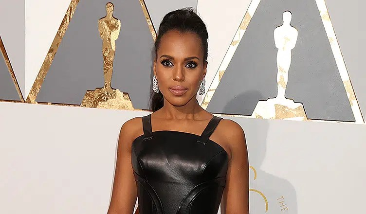 LOS ANGELES - FEB 28: Kerry Washington at the 88th Annual Academy Awards - Arrivals at the Dolby Theater on February 28, 2016 in Los Angeles, CA. (Credit: Shutterstock)