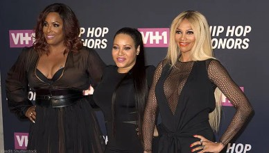July 11, 2016: Salt-N-Pepa members DJ Spinderella, Cheryl James, Sandra Pepa Denton attend 2016 VH1 Hip Hop Honors: All Hail The Queens at Lincoln Center. (Credit: Shutterstock)