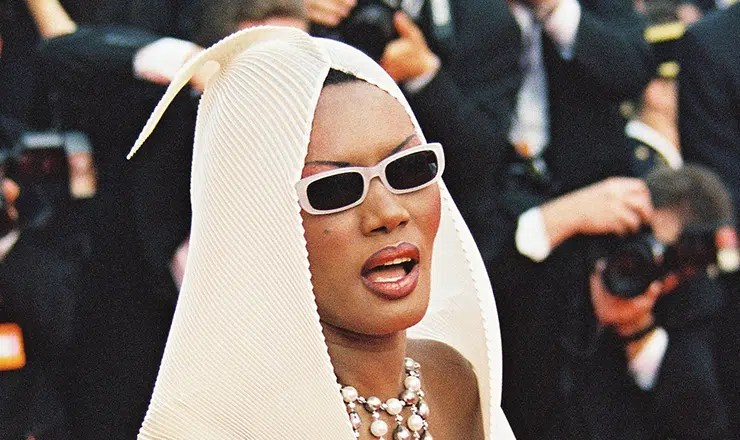 MAY 20: Singer and actress Grace Jones arrives at the 54th International Film Festival on May 20, 2001 in Cannes, France. (Credit: Shuttersock)