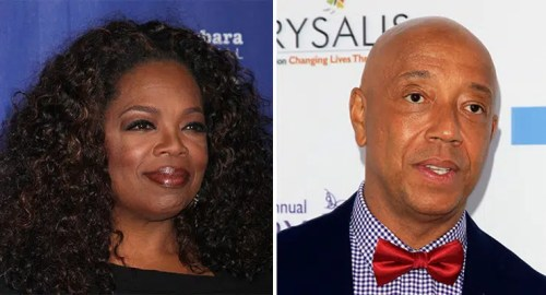 Oprah Winfrey and Russell Simmons (Credit: Deposit Photos)