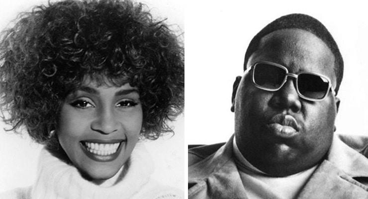Whitney Houston and Notorious B.I.G.