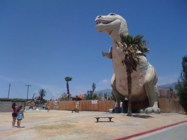 Dinosaurs at Cabazon enroute from Los Angeles