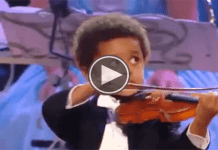Known as one of the best violinist in the world.... and he is a 4yr old black boy