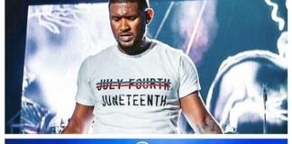 Usher Rejects 4th of July & Makes Waves with Juneteenth T-Shirt During Essence Festival 2