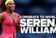 Another Milestone for Serena Williams as She Ties Evert for # of Weeks Ranked #1 Tennis Player in the World