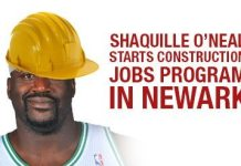 Shaquille O'Neal Starts Construction Jobs Program in Newark
