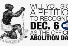 Abolition Day Petition Only Has 375 Signatures So Far!!!!