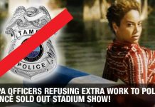 Tampa Officers Refusing Extra Work To Police Beyoncé Sold Out Stadium Show!