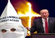 KKK Shows Up to Support Donald Trump at Nevada Cacaus Wearing Hoods & Sheets 2