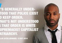 Police exist to keep order. What's not understood is that order is...