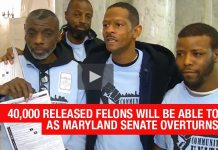 40,000 Released Felons Will Be Able To Vote As Maryland Senate Overturns Veto