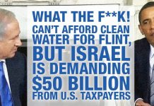 WTF: Can't Afford Clean Water For Flint, But Israel Is Demanding $50 Billion From U.S. Taxpayers
