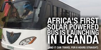 DYK: Africa's First Solar Powered Bus Is Launching In Uganda (and it can travel for 8 hours straight).