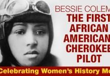 Bessie Coleman The First African American/Cherokee Pilot