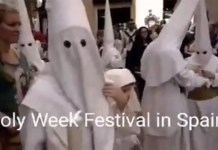 Easter Sunday In Spain Looks Like Hate Group In United States | Are They The Same?