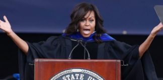 First Lady Michelle Obama Delivers Powerful Commencement Speech, Targets Religious Freedom Bill