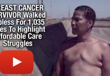 BREAST CANCER SURVIVOR Walked Topless For 1,035 Miles To Highlight Affordable Care Struggles