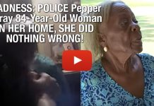MADNESS: POLICE Pepper Spray 84-Year-Old Woman IN HER HOME, SHE DID NOTHING WRONG!