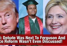 SMH: Debate Was Next To Ferguson And Police Reform Wasn't Even Discussed!