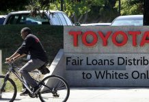 A Racial Penalty Imposed for at least 2 years for African and Asian Americans Buying Toyota Cars