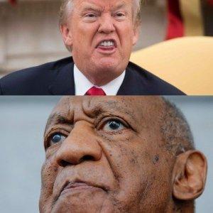 Cosby and Trump sittin in a tree ... k i s s i n g ...