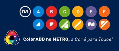 Carteles para daltónicos en el Metro de Oporto
