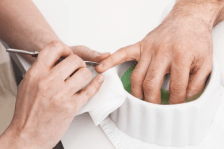 Polish Your Look: You don't have to get a full manicure treatment, if that's not your thing, but keep nails clipped and filed—cleaning regularly under the nails can keep bacteria and fungi from growing under the nail. Use cuticle oil, moisturize your hands and nails daily, and always clip. Do not bite nails.