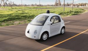 A rendering of Google's self-driving vehicle prototype. (Google)