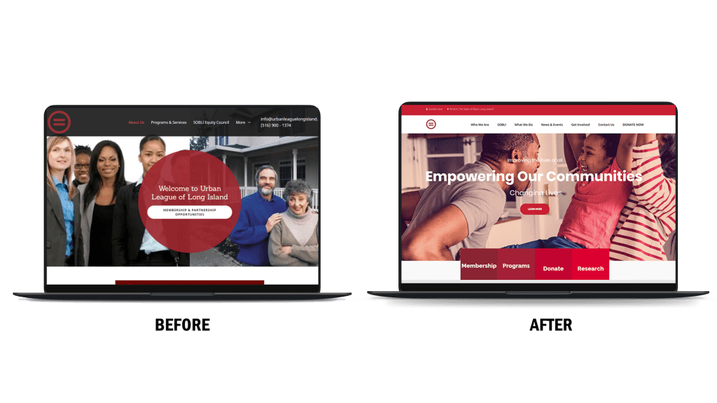 urban league of long island website redesign by blue surge marketing agency