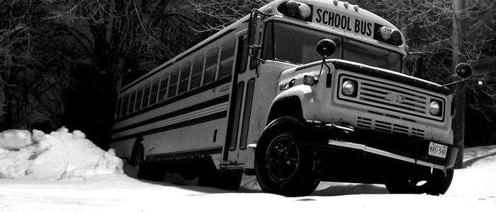 School Bus Railroad Track Legend