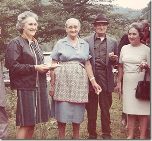 Picklebean with his wife and his two daughters