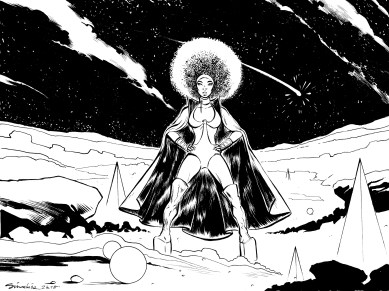 Lion Babe - Wonder Woman (Inks on paper)