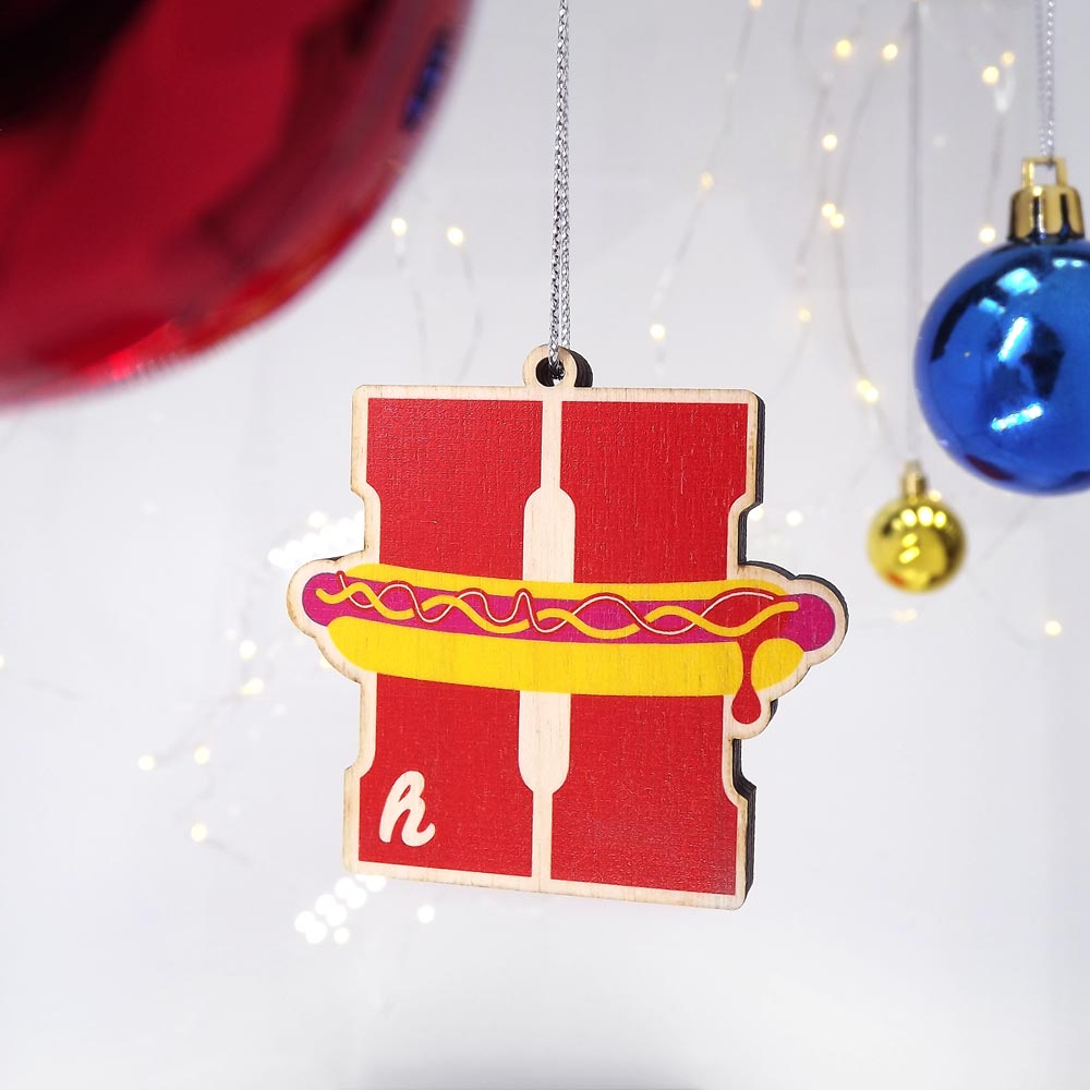 c64a1ae69a3c1 Buy Letter H Christmas Tree Decoration - Typographic - Personalised ...