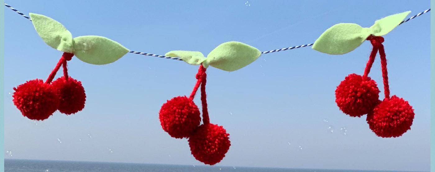 Make a fruity Pom Pom Summer Garland with Little Dot Loves