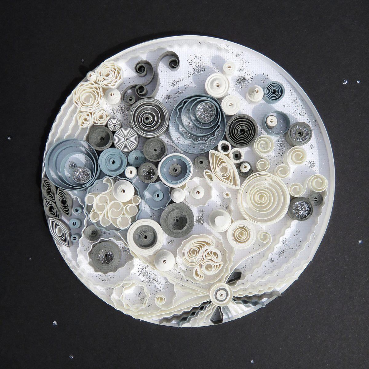 Buy Under The Same Moon Original Framed Quilled Paper