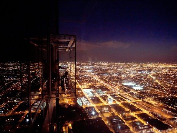 Willis Tower Ledge Night Urbanmatter